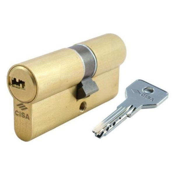 Cisa Κύλινδρος Υπερασφαλείας Asix Brake Secure Χρυσός
