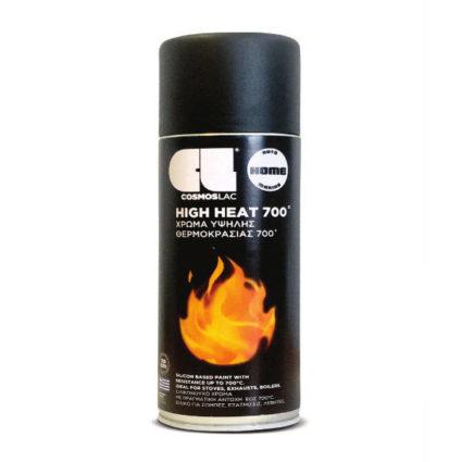 Σπρέι Υψηλής Θερμοκρασίας 700°C Μαύρο